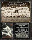 1929 Philadelphia Athletics World Series Champions Photo Card Plaque
