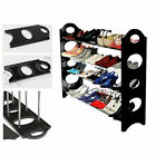 4/6/10 Tiers Shoe Rack Shelf Storage Closet Organizer Cabinet Holder Black US