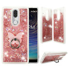 For Coolpad Legacy Liquid Glitter Bling Clear Protective Case Cover + Ring Stand