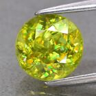 Natural Greenish Yellow Rainbow Luster Sphene, Madagascar - Round
