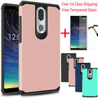 For Coolpad Legacy/alchemy Shockproof Armor Bumper Rubber Case+tempered Glass