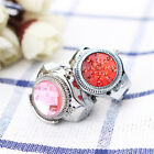 Fashion Women Jewelry Round Finger Ring Watch Stone Steel Elastic Lady Girl  image