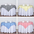 SQUARE Checked Gingham Polyester Tablecloth Dinner Wedding Linens Party Sale