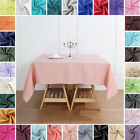 SQUARE POLYESTER TABLECLOTH Wedding Party Catering Linens Decorations Wholesale