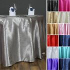 "ROUND 120"" Embossed Satin Tablecloths Wedding Linens Party Decorations Wholesale"