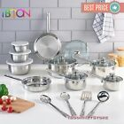 NON STICK COOKWARE SET Stainless Steel 18 Piece 10 Pieces NEW Pots...