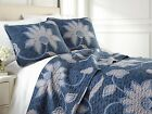 Grand Floral Reversible Lightweight Quilt Set image