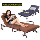 Fold up Beds with Mattress Foldable Lounge Chair Recliner Adjustable Backrest