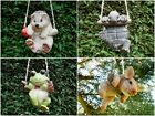 Tree Hanging Animal Garden Decoration Ornaments Frog, Tortoise, Hedgehog