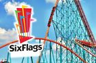 SIX FLAGS 1-DAY E-TICKET $32.00 11-THEME PARKS 6-WATER PARKS.