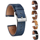 Quick Release Leather Watch Bands Calf Handmade Vintage Leather Watch Strap 1a image