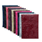 PU Leather Embossed Rose Passport Holder Cover Credit Card ID Travel Bag Supply