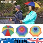 "20"" Sun Umbrella Hat Outdoor Hot Foldable Golf Fishing Camping Headwear Head Cap"