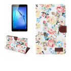 "Flower Smart Case for Huawei MediaPad M3 Lite 10.1"" 8.0"" PU Leather Stand Cover"