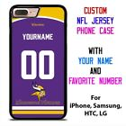 MINNESOTA VIKINGS JERSEY NFL Custom Phone Case Cover for iPhone Samsung Galaxy $15.9 USD on eBay