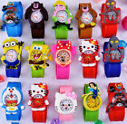 Cute Cartoon Animal Slap Snap On Silicone Wrist Watches Boys Girls Children Kids image
