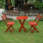 Outdoor Furniture Set Patio Deck Garden Bistro Wood Folding Red Table Chairs New