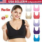 Added to-Size Women Seamless With Chest Pad Adjustment Soft No Steel Ring Sports Bra
