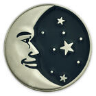 PinMart's Astrology Moon Face and Stars Enamel Lapel Pin image