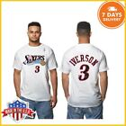 Philadelphia 76ers Tshirt Allen Iverson Hardwood Classics Distressed Name S-6XL on eBay