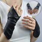 Faux Leather Gloves Medieval Fingerless Bracer Gothic Cosplay Steampunk Gloves