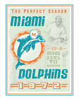 Miami Dolphins - Perfect Season - poster print $12.5 USD on eBay