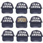 Bachelor Party Hats Team Groom Hat Groom Half Mesh Baseball Snapback Cap Hat