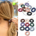 5PC Scrub Telephone Wire Hair Ties Women Gum Spiral Elastic Ponytail Scrunchies