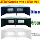3x/3/4/6m Waterproof Gazebo Wedding Party Tent with Sides Wall Cover Heavy Duty