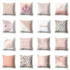 Throw Pillow Case Geometric Striped Flower Home Sofa Cushion Cover Pink Decor#ww image