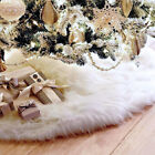Luxury Faux Fur Christmas Tree Skirt 3 Sizes New Year White Decoration For Home