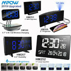 Mpow 5'' LED Curved Projection Alarm Clock FM Radio 12/24 Hr SNOOZE Dual Alarm