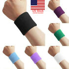 1 Pair Unisex Sweatbands Sports Wrist Tennis Squash Badminton GYM Wristband Gift image