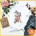 FREE SHIP! Bugs Bunny And Lola Original Art T-Shirt White Cotton Shirt All Size image