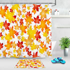 """White Background Beautiful Autumn Leaves Shower Curtain Liner Bathroom Decor 72"""""""