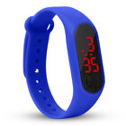 Mens Womens Kids Sports Digital Soft Silicone Rubber LED Bracelet Wrist Watch
