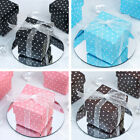 "100 2x2"" Polka Dot Wedding Favors Gift BOXES with Removable Lid Party Supplies"