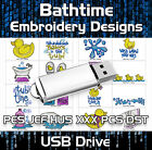 Bath Time,  Bathroom  PES JEF HUS XXX PCS DST Machine Embroidery Design files USB