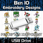 Ben 10 PES JEF HUS XXX PCS DST Machine Embroidery Design files on USB