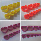 3MM-25MM EAR TUNNEL HEART SHAPED PLUG STRETCHER SADDLE ACRYLIC YELLOW PURPLE