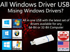 Microsoft Windows 10, 8.1,7 All 32GB USB 32 bit 64 bit Install PC Drivers