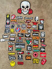 Assorted Patch Sew Iron on Embroidered Punk/Metal/Rock Patches Free Shipping