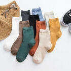 Women's Cotton Tube Socks Solid Color Socks Double Needle Autumn Ankle Socks