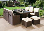 CUBE 2019 RATTAN GARDEN FURNITURE SET CHAIRS TABLE OUTDOOR PATIO WICKER 10 SEATS