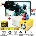 """Led Mini Projector Ultra Portable HD 1080P Home Theater  60"""" Projection Screen"""