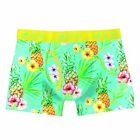 Two Left Feet Comic Print Men's Trunk Boxer Brief Underwear Yellow