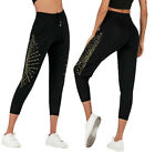 New Women Plain Stretchy Leggings Workout Tight Pants Cropped Active Trousers