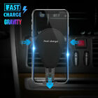 Fast Qi Wireless Car Charger Air Vent Mount Holder for Samsung S9/S8 iPhone X 8