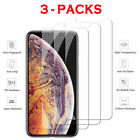 3-Pack For iPhone 6 6S PLUS 7 8 Plus X Xs Max XR Tempered GLASS Screen Protector