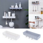 1pc No Drilling Bathroom Shelf Organizer Wall Mounted Drain Shelf with Hooks 03